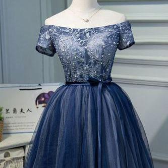 High Quality Short Mini Tulle Navy ..