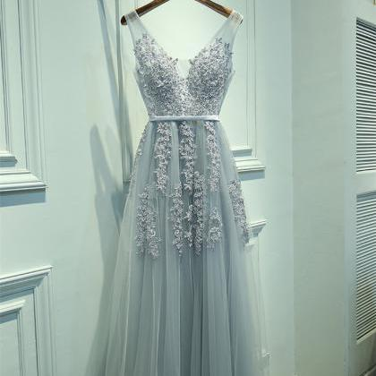 New Arrival Baby Blue Long Prom Dre..