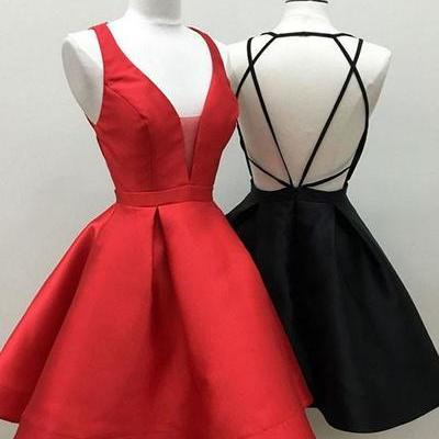 Hot Sell Red/Black Short Homecoming Dresses Prom Dresses