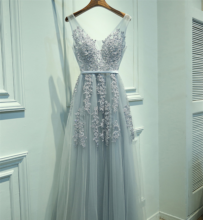 New Arrival Baby Blue Long Prom Dresses, Evening dresses, Party Dresses