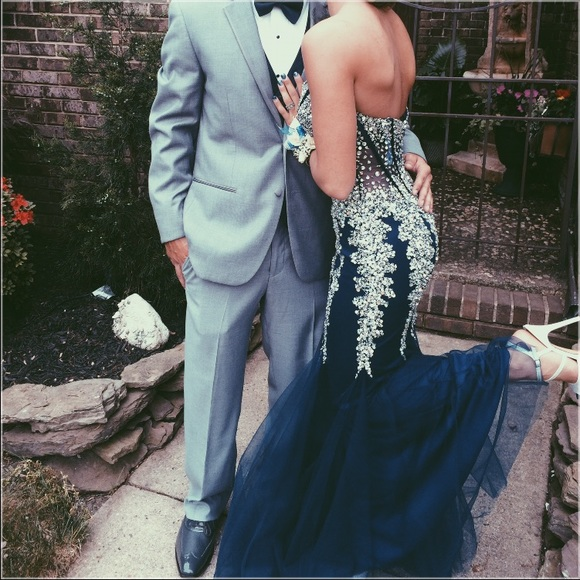 c26440f1ae Navy blue mermaid sweetheart long prom dress with beaded evening dress jpg  580x580 Dress 5908