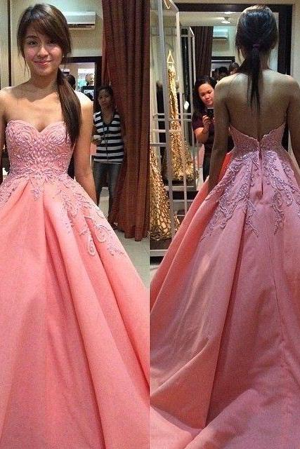 Elegant Sweetheart Long Ball Gowns Prom Dresses Quinceanera Dresses