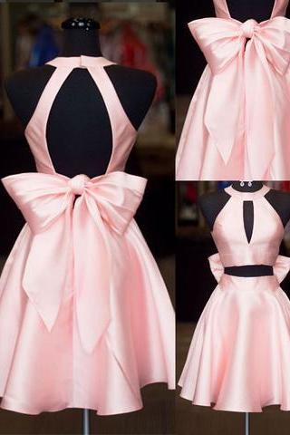 Sexy Two Piece/2 Piece Prom Dress Short Homecoming Dress with Bowknot
