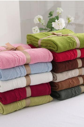 Cotton Knitted Wool Blanket Blanket Diamond Air Conditioning Sofa Blanket Cotton Baby Blanket