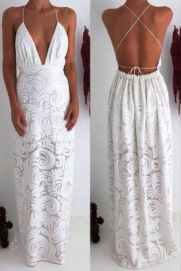 New Arrival Sexy White Lace Conversible Prom Dresses Evening Dress Party Gowns for Women