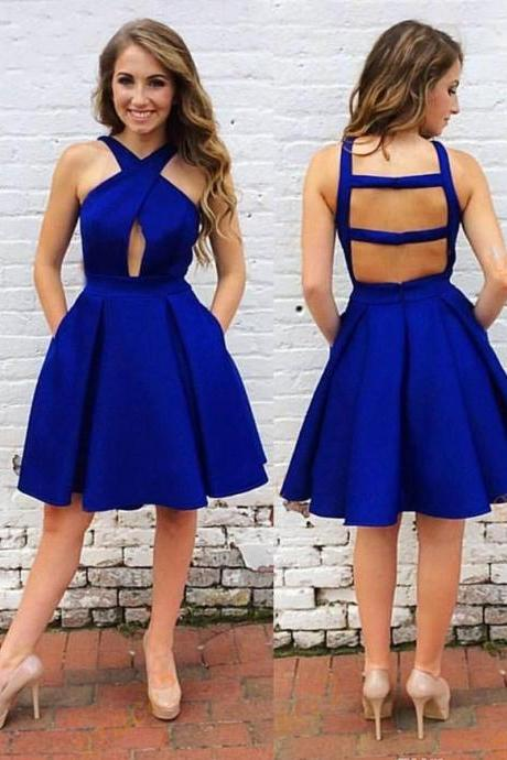 Royal Blue Short Prom Dresses Homecoming Dress for Women Under 100