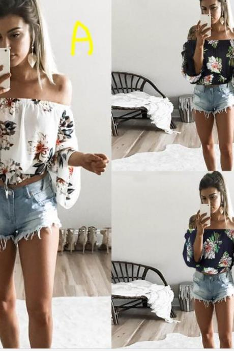 Women's Summer Outfits Casual Print Top