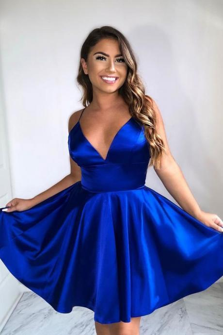 Simple Royal Blue Short Homecoming Dresses Under 100 Prom Dress