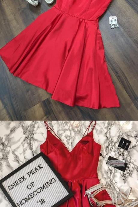 Simple Red Short Homecoming Dresses Under 100 Party Dresses