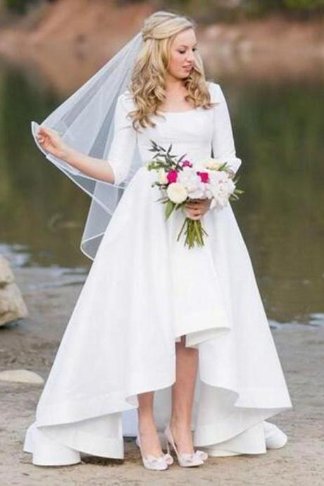 Simple Square Wedding Dresses Bridal Gowns for Bridal