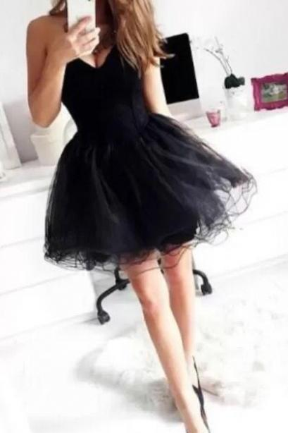 Sexy Sweetheart Little Black Dresses, Short Prom Dresses, Short Homecoming Dresses,Formal Dresses