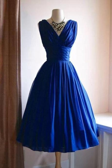 Vintage V Neck Homecoming Dresses for Women, Prom Dresses, Party Dresses